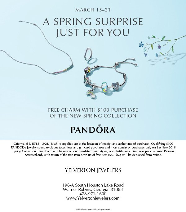 Pandora Jewelry Special for March 15-21 2018